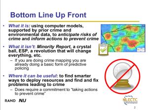 Folie aus einer Präsentation zu Predictive Policing
